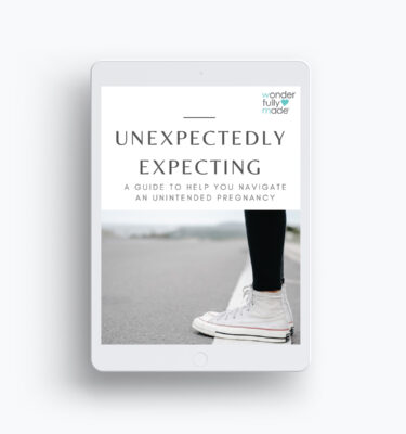 Guide cover for UNEXPECTEDLY EXPECTING - A Guide To Help You Navigate An Unintended Pregnancy